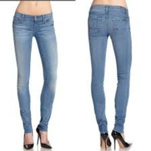 7 For All Mankind Roxanne Skinny Jeans Light  Wash